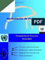 Formulacion de Proyectos ILPES