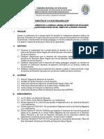 Directiva 011-  2019