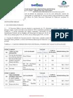 Edital de Abertura da prefeitura de manicuré