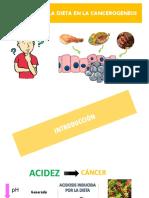 Relacion de La Dieta en La Cancerogenesis
