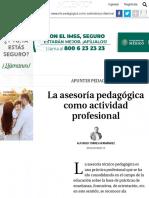 La asesoría pedagógica como actividad profesional