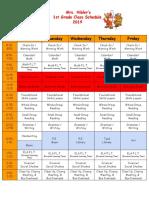 19-20 class schedule
