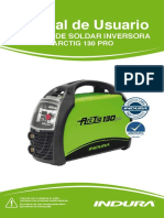 Manual de Usuario Máquina de Soldar Inversoraarctig 130 Pro