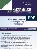False cognates slide