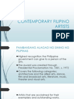 Contemporary Filipino Artists