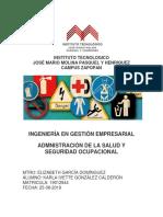 Seguridad e Higiene Mapa Conceptual