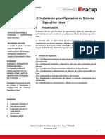 Guia de Trabajo 2 Instalación y Configuración de Sistema Operativo Linux