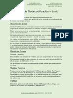 Cursos Biodecodificación Junio 2019
