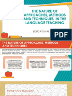The Nature of Approaches, Methods and Techniques