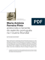 Maria Antónia Ferreira Pinto aristocrata e tenente do exército português na I Guerra Mundial