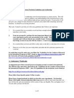 Robertson Notebook Guidelines