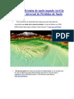 Análisis de Erosión de Suelo Usando ArcGis