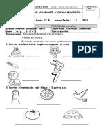 Prueba de Lenguaje m,l,p,s,d,t primero básico