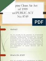 Philippine Clean Air Act Final