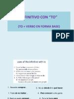 Inglés Técnico _ to infinitive