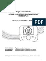 Instrucciones Termostatos Modulantes Neodens Plus ECO y Platinum Compact ECO
