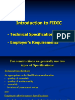 FIDIC - TechnicalSpecifications vs Employers Requirements