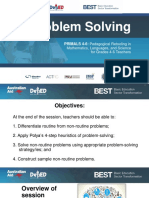 5.0 Problem Solving in Math
