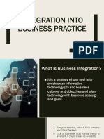 Integration Into Business Practice