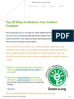 20 Ways to Reduce Your Carbon Footprint