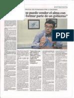 20101113 Entrevista a Roberto Sánchez Ramos en el periódico Oviedo Diario