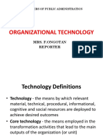 MPA- Organizational Technology
