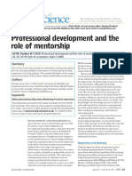 Ali, P. 2008. Professional Development and the Role of Mentorship. Nursing Standard