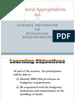1D 3 2018 GAA Budgetary Req