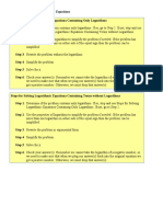 Solving Log Eqns Examples