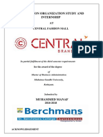 Future Group Central Mall Internship report