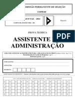 Assistente Em Administração Prova e Gabarito