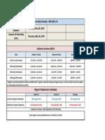 Internship Schedule Sessions BBA 2015-19