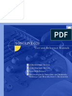 Siemens Sonoline G20 user manual