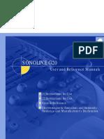 Siemens Sonoline G20 user manual
