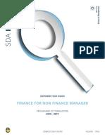 Finance for Non Finance Manager Br II Semestre 2018