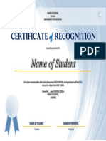 Certificate of Recognition - FREE TEMPLATE v1