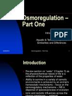 Osmoregulation - Part One