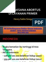 Tatalaksana abortus dilayanan primer