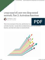 Deep Study of a Not Very Deep Neural Network