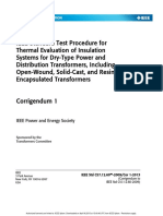 IEEE Standard Test Procedure for Thermal Evaluation of Insulation Systems for Dry-Type Power and Distribution Transformers, Including Open-Wound, Solid-Cast, and Resin- Encapsulated Transformers