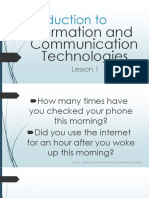 Lesson 1 Introduction to Information and Communication Technologies1