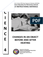 Science 4 MISOSA - Changes in An Object Before and After Heating (1).pdf