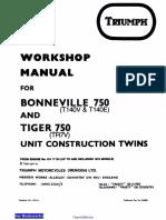 73 78 Triumph Bonneville Tiger Workshop Manual