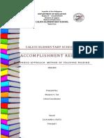 Accomplishment Report in Reading Program Sy-2018-2019