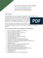 International Journal of Database Management Systems
