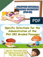 Phil-IRI Graded Passages