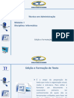 2. Edição e Formatação