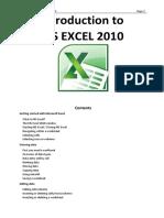 MS Excel 2010 (Handout)