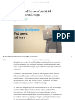 Present and Future of Artificial Intelligence in Design