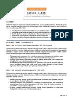 Allen Simple Resume Format